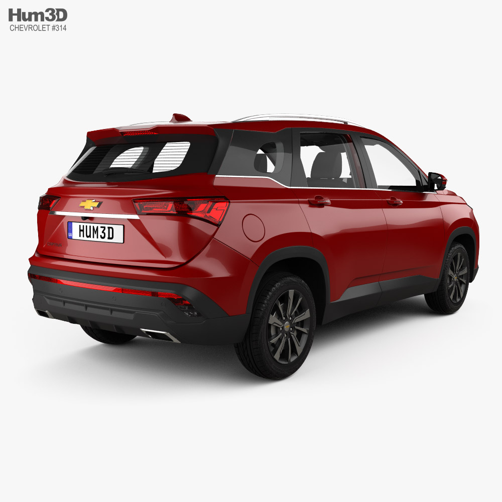 Chevrolet Captiva with HQ interior 2019 3d model back view
