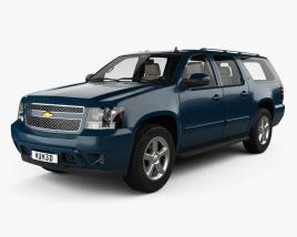 Chevrolet Suburban LTZ con interior y motor 2010 Modelo 3D