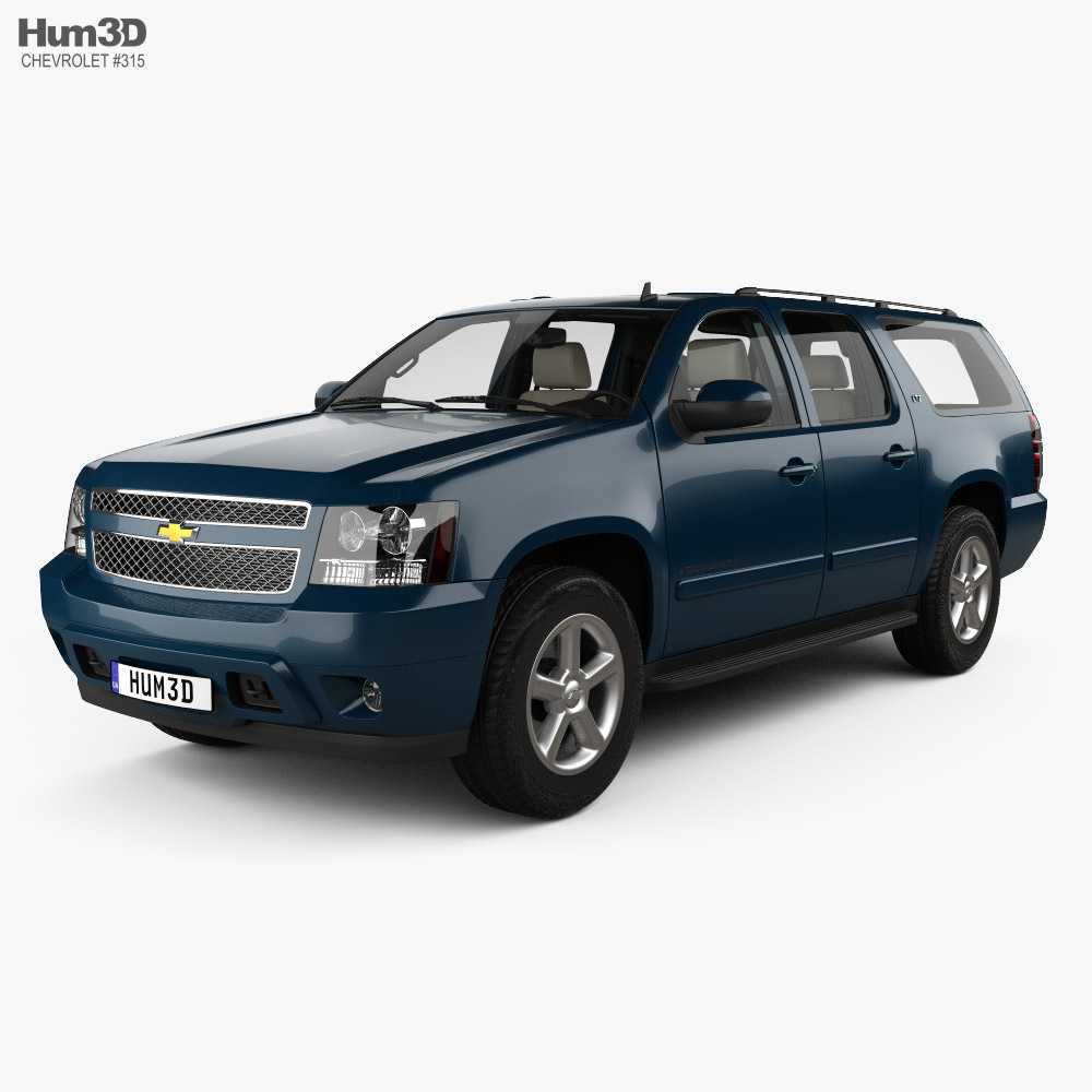 Chevrolet Suburban LTZ with HQ interior and engine 2010 3D model