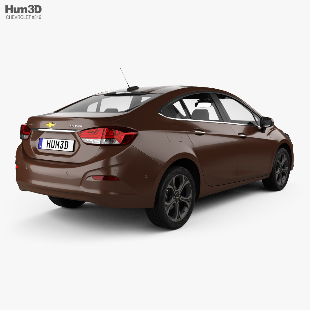 Chevrolet Cruze Premier 2019 3d model back view