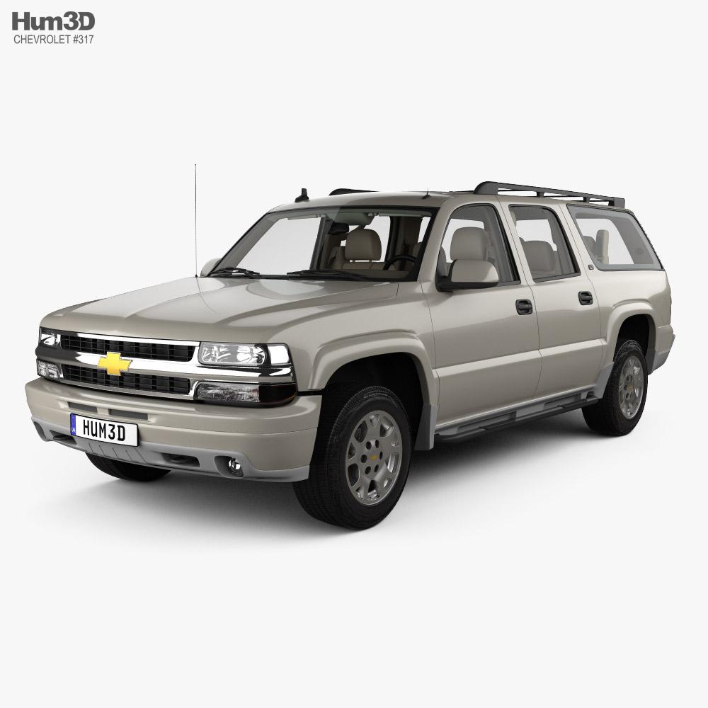 Chevrolet Suburban LT with HQ interior 2005 3D model