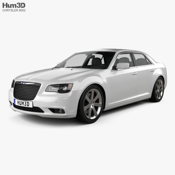 3D model of Chrysler 300 SRT8 2012