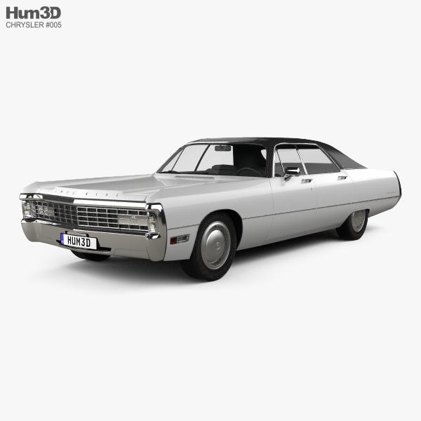 3D model of Chrysler Imperial LeBaron 4-door Hardtop 1971