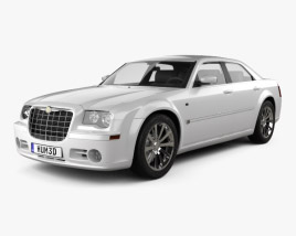3D model of Chrysler 300C sedan 2009