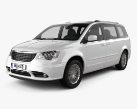 3D model of Chrysler Town & Country 2012