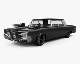 3D model of Chrysler Imperial Crown Green Hornet Black Beauty 1965