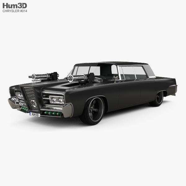 Chrysler Imperial Crown Green Hornet Black Beauty 1965 3D model