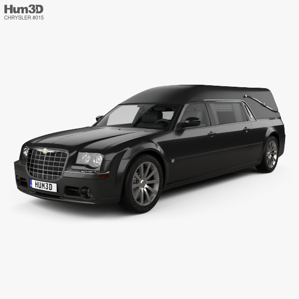 3D model of Chrysler 300C hearse 2009