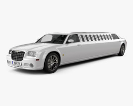 3D model of Chrysler 300C limousine 2009