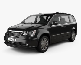 3D model of Chrysler Grand Voyager 2011