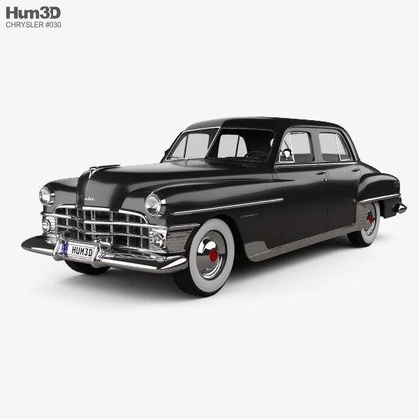 Chrysler New Yorker sedan 1950 3D model