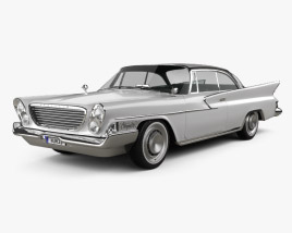 3D model of Chrysler Newport 2-door hardtop 1961