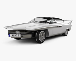 3D model of Chrysler TurboFlite 1961