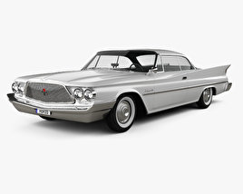 3D model of Chrysler Saratoga hardtop coupe 1960