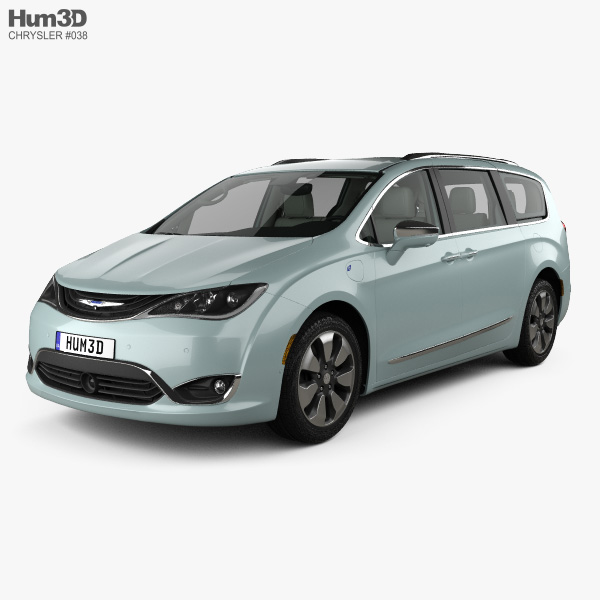 Chrysler Pacifica Hybrid with HQ interior 2017 3D model