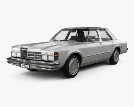 3D model of Chrysler LeBaron Medallion Sedan 1978