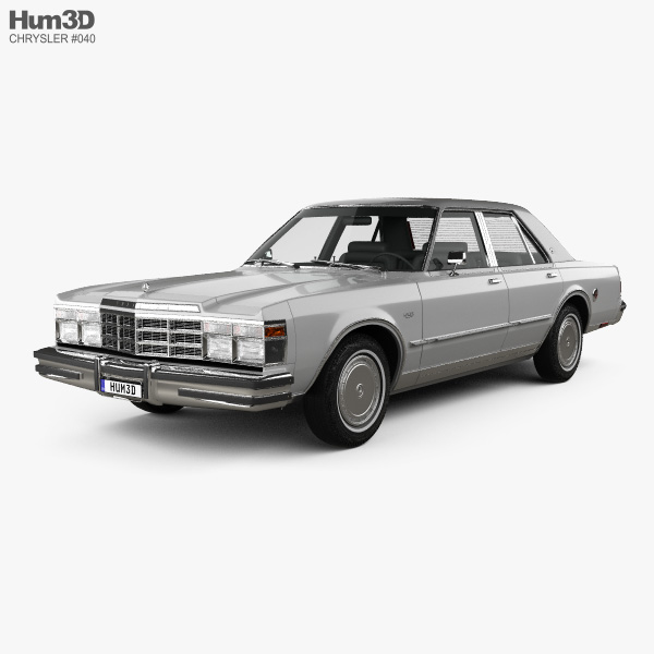 3D model of Chrysler LeBaron Medallion Sedan 1978