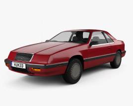 3D model of Chrysler LeBaron coupe 1987