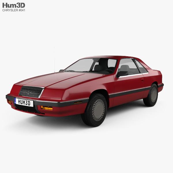 3D model of Chrysler LeBaron coupe 1987