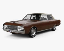 3D model of Chrysler Valiant VIP sedan 1969