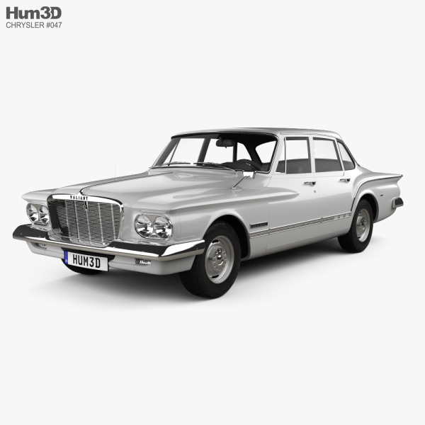 3D model of Chrysler Valiant sedan 1962