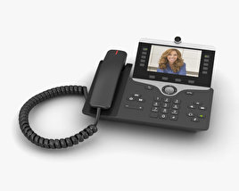 3D model of Cisco IP Phone 8865