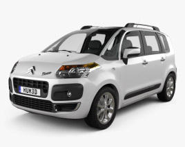 3D model of Citroen C3 Picasso 2009