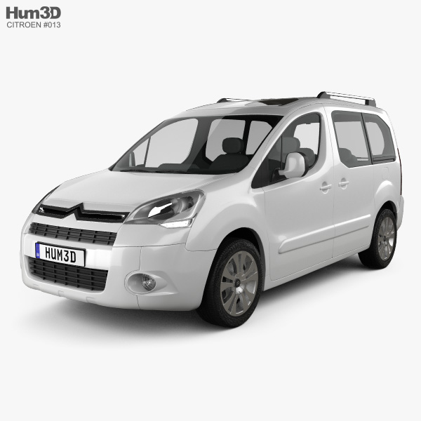 3D model of Citroen Berlingo Multispace 2011