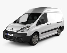 3D model of Citroen Jumpy Panel Van L2H2 2011
