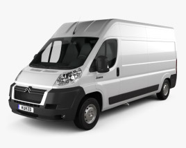 3D model of Citroen Jumper Panel Van 2012