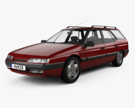 3D model of Citroen XM Break 1989
