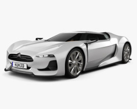 3D model of Citroen GT with HQ interior 2008