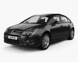 3D model of Citroen C4 hatchback 2008