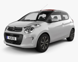 3D model of Citroen C1 5-door 2014