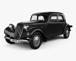 3D model of Citroen Traction Avant 1934