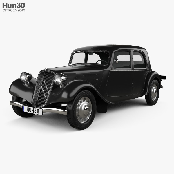 Citroen Traction Avant 1934 3D model