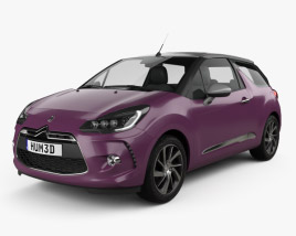 3D model of Citroen DS3 convertible 2014