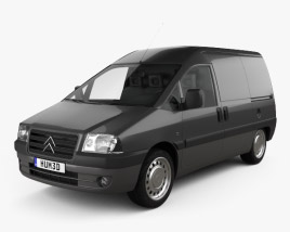 3D model of Citroen Jumpy Van 2004