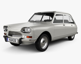 3D model of Citroen Ami 8 1969