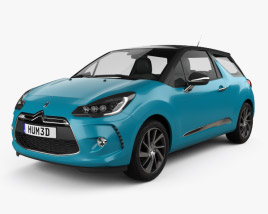 3D model of Citroen DS3 coupe 2014