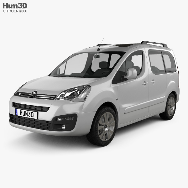 3D model of Citroen Berlingo Multispace 2015