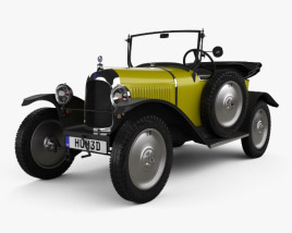 Citroen 5CV (C2) Torpedo 1924 3D model