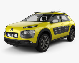 3D model of Citroen C4 Cactus with HQ interior 2015