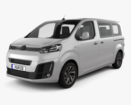 3D model of Citroen Spacetourer 2016
