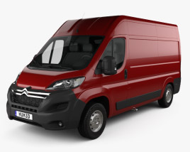 3D model of Citroen Jumper Panel Van L2H2 2015