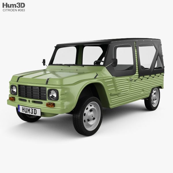 Citroen Mehari 1968 3D model