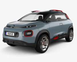 3D model of Citroen C-Aircross 2017
