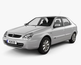 3D model of Citroen Xsara 5-door hatchback 2000