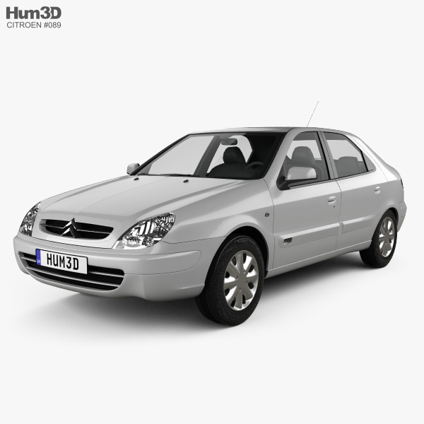 Citroen Xsara 5-door hatchback 2000 3D model