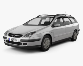 3D model of Citroen C5 break 2001